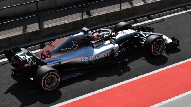 Russell F1 2018 Hungary test